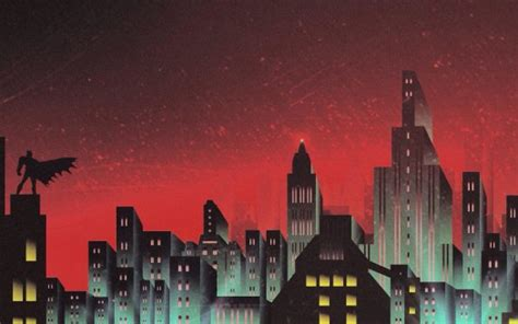 batman gotham skyline artwork wallpapers hd wallpapers