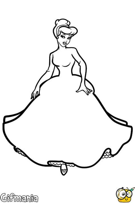 imagenes para colorear vestido pasatiempo de dibujar el vestido de cenicienta