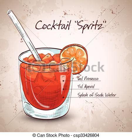 bicchieri per spritz clipart vettoriali di vetro spritz aperitivo aperol