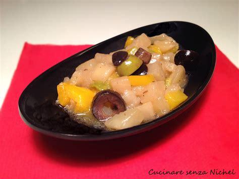 nichel alimenti proibiti caponata di melanzane e peperoni nichel free cucinare