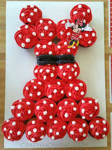 pull apart cupcake cake templates minnie mouse pull apart cupcake cake pull apart cupcake