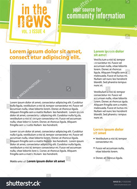 non profit newsletter template template for business or non profit organization