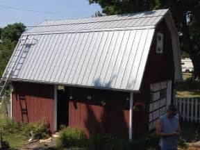 Barn Roof Pro Rib Steel Gambrel Roof Barn Edgerton Ohio