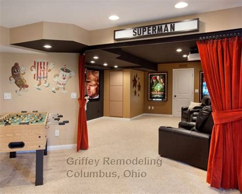 curtains columbus ohio movie theater decor traditional basement small basement