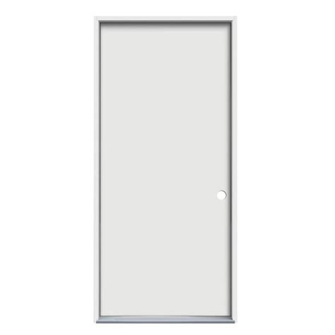 Flush Entry Door by Shop Jeld Wen Flush Insulating Left Inswing