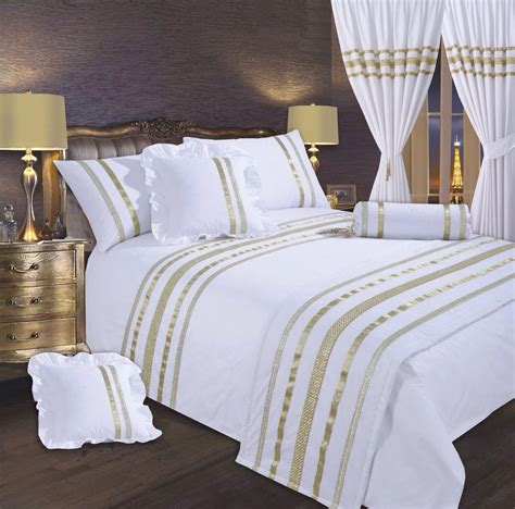 white and gold bedding white gold stylish lace diamante sequin duvet cover