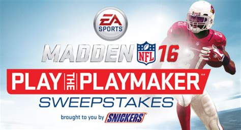 Nfl Sweepstakes - maddan nfl 16 play the playmaker sweepstakes