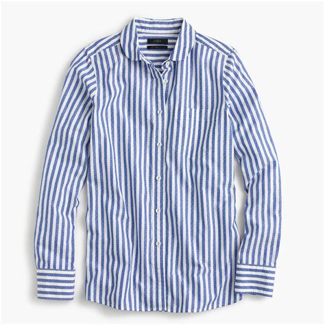 Blouse Import 25433 Black Textured Top club collar boy shirt in textured jacquard stripe j crew