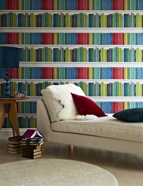 Library Wallpaper Design Uk | wallpaper wednesday library wallpaper marcus by albany