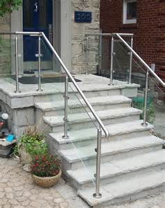 Stair Handrail Code Requirements Glass Exterior Railing Contemporary Staircase