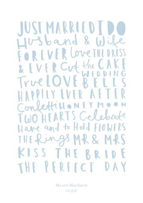 Wedding Words by Personalised Wedding Words Print By Company