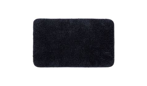 Rubber Backed Mats by George Home Microfibre Rubber Backed Bath Mat Black