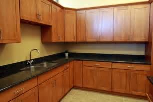 Shaker oak renton cabinet and graniterenton cabinet and granite