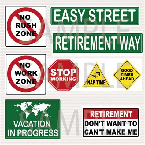 free printable retirement party decorations retirement party printable signs kit road signs travel