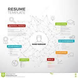 vector original minimalist cv resume template stock