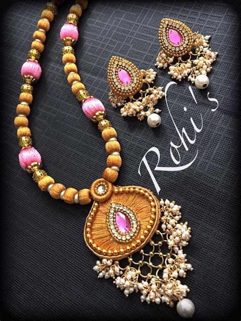 Handmade Thread Jewellery - 1277 best silk thread jewelry images on thread