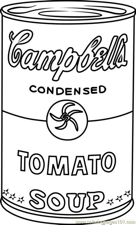 cbell s soup by andy warhol coloring page free andy