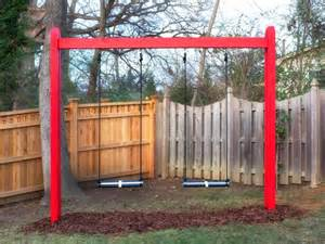 Diy Backyard Swing by How To Build A Wooden Kids Swing Set Hgtv