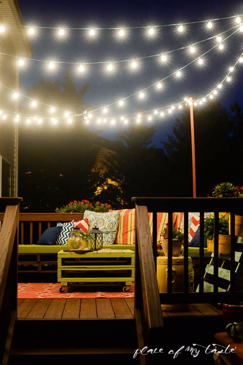 string lights for deck hang string lights on your deck an easy way