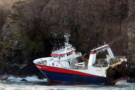 fishing boat gets run over by another boat fourteen french fishermen saved as boat runs aground in
