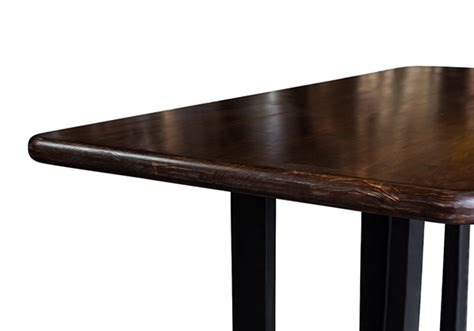 custom size table tops burke custom sized table top bronze walnut stained
