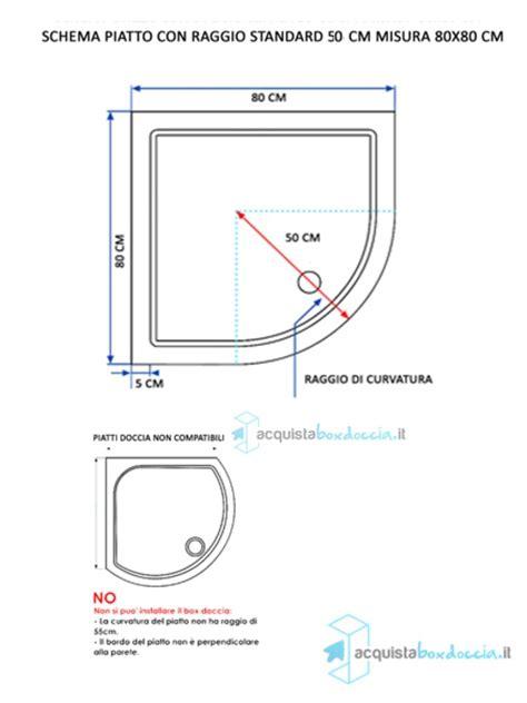 piatto doccia semicircolare 80x80 box doccia semicircolare 80x80 cm opaco bianco