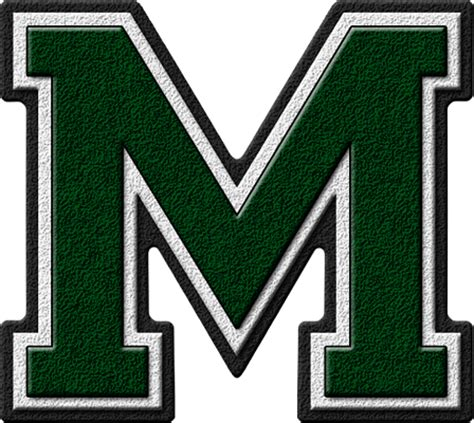 College Football Varsity Letter Presentation Alphabets Forest Green Varsity Letter M