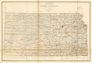 general land office maps state of kansas 1891 compiled from the official