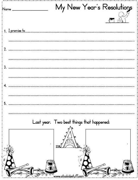 new year 2016 student worksheets a to z stuff new year s resolutions worksheet