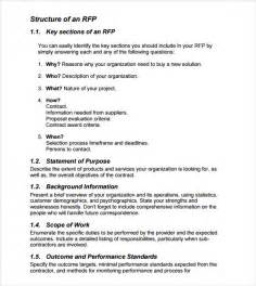 rfp templates sle rfp template 8 free documents in pdf word