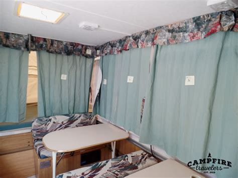 pop up cer curtain ideas replacing curtains in a pop up cer cfire travelers