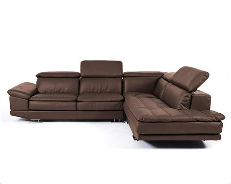 Modern Italian Leather Sofas Modern Brown Italian Leather Sectional Sofa 44l5979