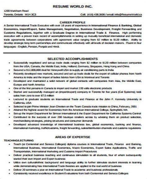 finance resume sle pdf 28 images finance manager
