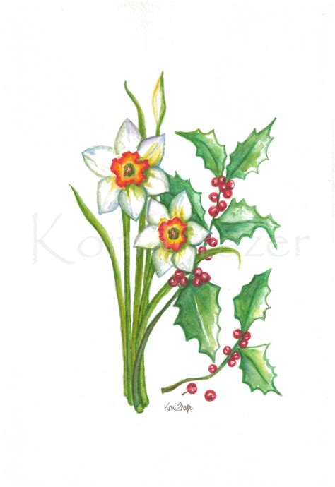 narcissus flower tattoo narcissus and december birthday flower original