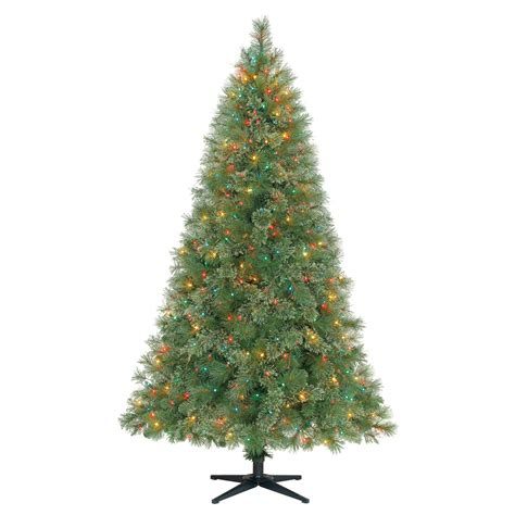 trim a home brilliant tree trim a home 174 6 5 pre lit slim mixed pine tree shop your way