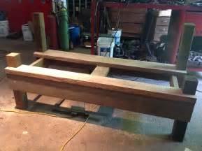 tailgate bench plans kathi s garden rust n stuff team building garden