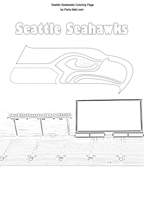 Pinterest Seattle Seahawk Coloring Pages