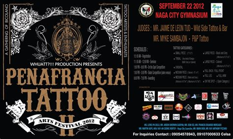 tattoo in naga city 2nd penafrancia tattoo arts festival sept 2012 livin