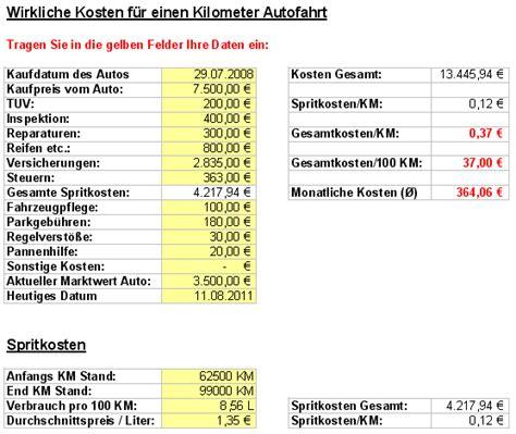 Auto Kosten Monat by Wieviel Kostet Mein Auto Wirklich Im Monat Und Pro Km