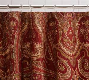 Red Paisley Valance Alice Paisley Shower Curtain Pottery Barn Linens N