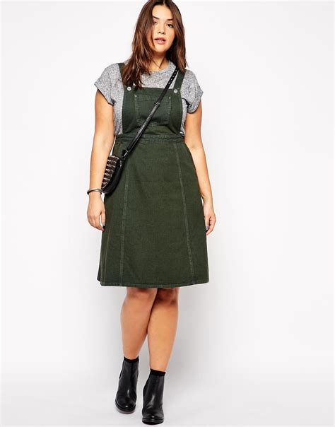 Dress Denim knee length denim pinafore dress buy denim dress