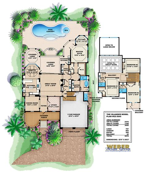 house plans florida islander house plan weber design naples fl