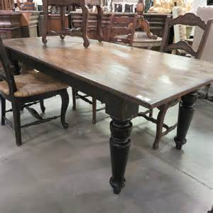 Reclaimed Wood Farmhouse Dining Table Rustic Farmhouse Dining Table 84 Black Distressed Reclaimed Wood Top Storeroom On