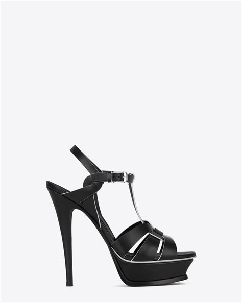 laurent classic tribute 105 sandal in black and