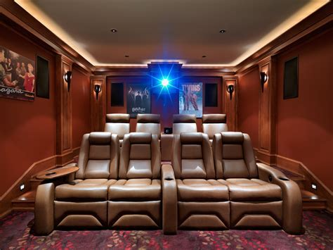 Theater pattern home theater craftsman with stadium