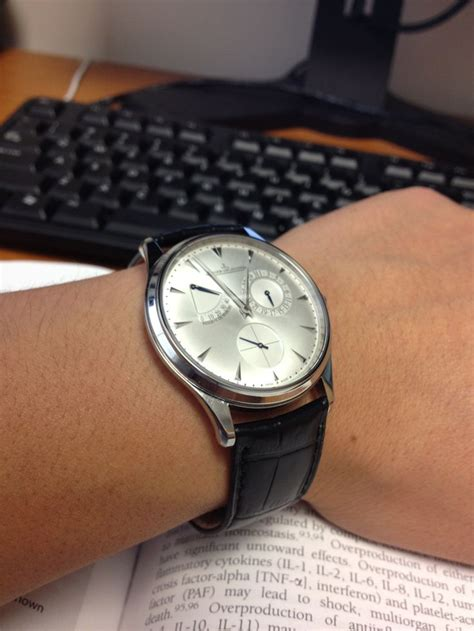 Jeager Lecoultre Master Ultra Thin Reserve De Marche jaeger lecoultre master ultra thin reserve de marche watches on the wrist masters