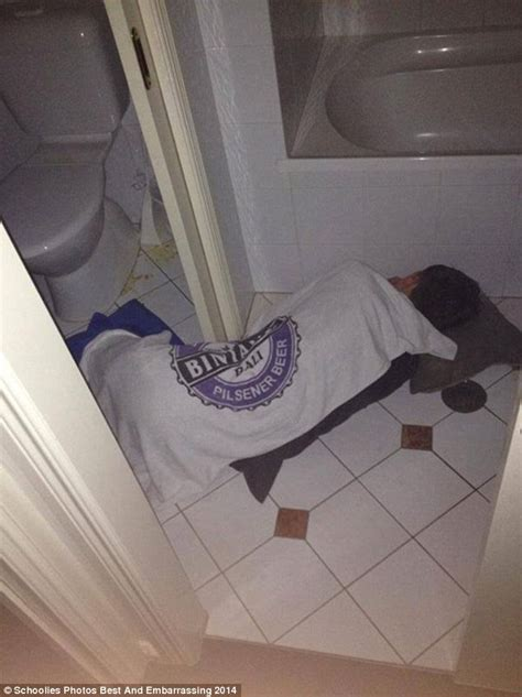 drunk in bathroom school leavers celebrate the end of schoolies 2014 with