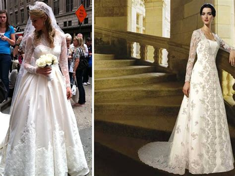 Two Kate Middleton royal wedding gown knockoffs by Mori