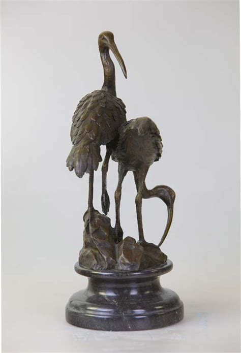 home decor statues sculptures metal garden decoration cranes sculpture furnishing
