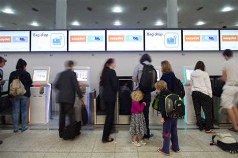 easyjet check inn easyjet opens self service bag drop at gatwick airport